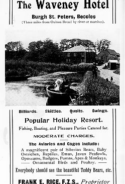 Old ad for The Waveney Hotel