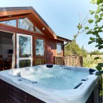 lodge with hot tub on the Norfolk Broads